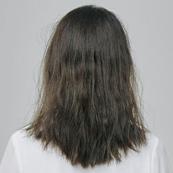 パサついて、まとまりにくい髪のイメージ